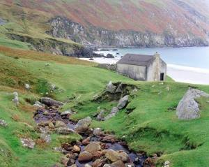 Ireland. I'm not sure where but I love little cottages and rolling green hills.