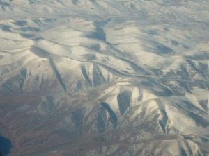 Mongolia - as taken from the plane on my Mum's last trip there